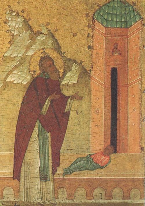 Воскрешение умершего младенца.