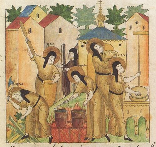 Преподобный Сергий в молении за братию основанной им Лавры